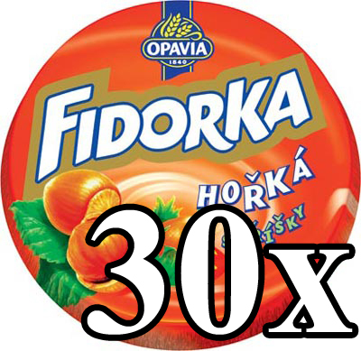 FIDORKA - Dark Chocolate with Nut Filling 30x
