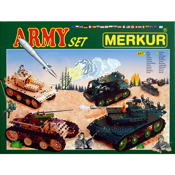 Merkur Army Set - Construction Toy
