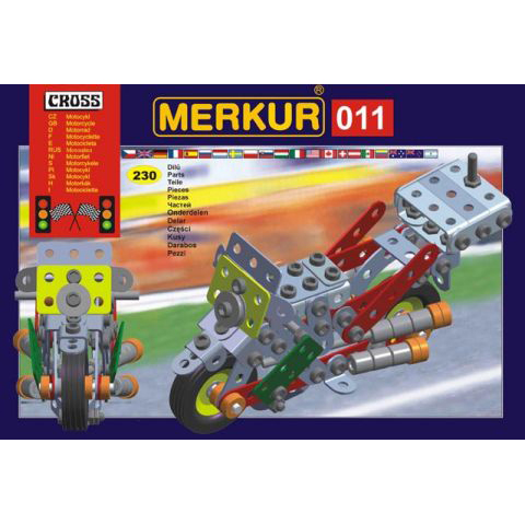 Merkur M 011 Motorcycle Set - Construction Toy