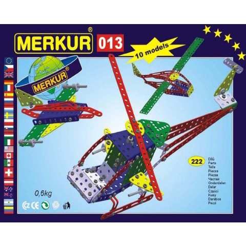 Merkur M 013 Helicopter Set - Construction Toy