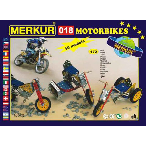 Merkur M 018 Motorbikes Set - Construction Toy